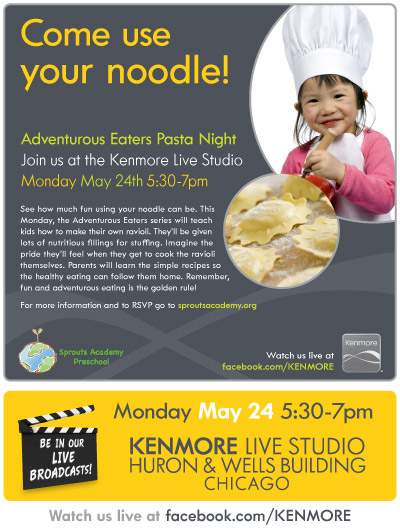 Sprouts Academy Preschool Adventurous Pasta Night