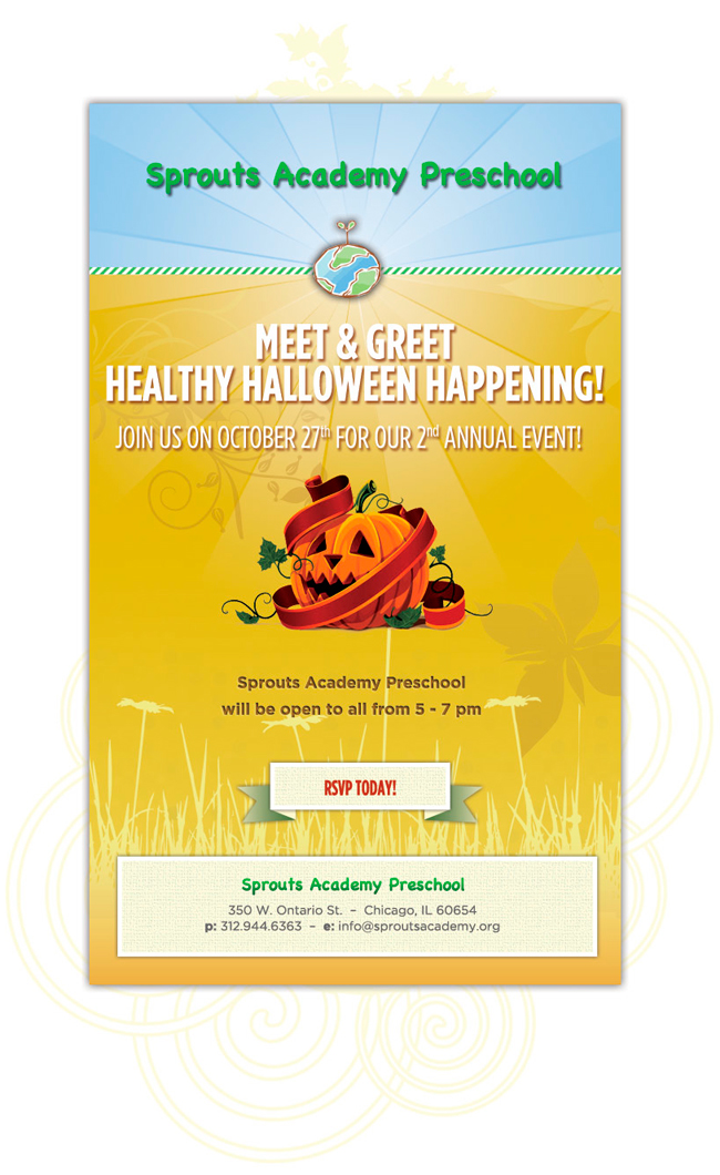Sprouts Academy Preschool Healthy Halloween Happening